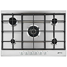 Buy Smeg P1752XT Linea Aesthetic Gas Hob, Stainless Steel Online at johnlewis.com
