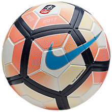 Buy Nike Strike FA Cup Football, Size 5, White/Orange Online at johnlewis.com