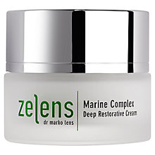 Buy Zelens Marine Complex Deep Restorative Cream, 50ml Online at johnlewis.com