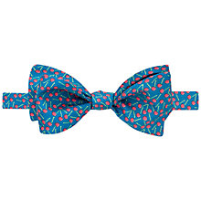 Buy Thomas Pink Cherry Print Self Tie Silk Bow Tie Online at johnlewis.com
