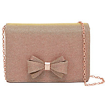 Buy Ted Baker Tie The Knot Kimmeyy Clutch Bag, Rose Gold Online at johnlewis.com