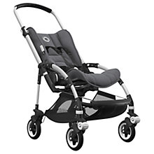 Buy Bugaboo Bee5 Complete Pushchair, Aluminium with Black Handles and Grey Melange Fabric Online at johnlewis.com