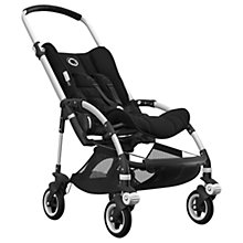 Buy Bugaboo Bee5 Complete Pushchair, Aluminium with Black Handles and Black Fabric Online at johnlewis.com