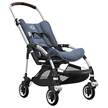 Buy Bugaboo Bee5 Complete Pushchair, Aluminium with Cognac Handles and Blue Melange Fabric Online at johnlewis.com