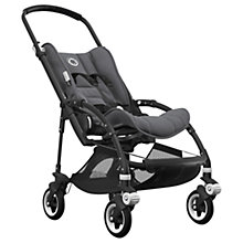 Buy Bugaboo Bee5 Complete Pushchair, Black with Black Handles and Grey Melange Fabric Online at johnlewis.com