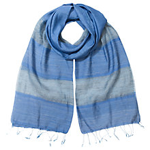 Buy East Silk Stripe Edge Scarf, Greystone Online at johnlewis.com