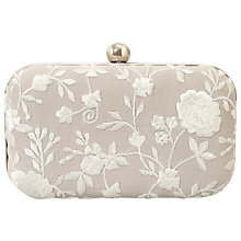 Buy East Amina Embellished Clutch, Dove Online at johnlewis.com
