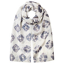 Buy East Silk Bandhini Scarf, Cornflower Online at johnlewis.com