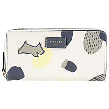 Buy Radley Dash Dog Large Zip Matinee Purse, Ivory Online at johnlewis.com