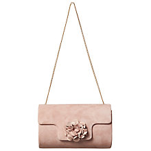 Buy Phase Eight Petal Suede Clutch Bag, Rose Online at johnlewis.com