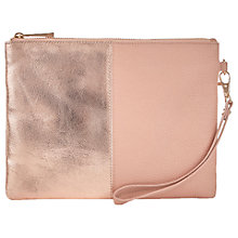 Buy Oasis Freya Patched Clutch Bag, Nude Online at johnlewis.com