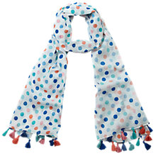 Buy Pure Collection Cotton Multi Spot Scarf, Multi Online at johnlewis.com