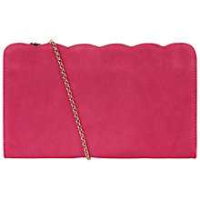 Buy Hobbs Sally Leather Clutch Bag, Fuchsia Online at johnlewis.com