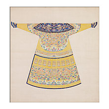 Buy V&A Yellow Summer Court Robe Unframed Print, 40 x 30cm Online at johnlewis.com