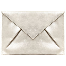 Buy Phase Eight Samara Suede Clutch Bag, Silver Online at johnlewis.com