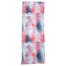 Buy Jigsaw Spirograph Print Silk Scarf, Pink Online at johnlewis.com
