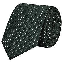 Buy Reiss Ishia Dotted Woven Silk Tie, Emerald Green Online at johnlewis.com
