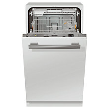Buy Miele G4780SCVI Slimline Fully Integrated Dishwasher, White / Silver Online at johnlewis.com