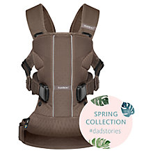 Buy BabyBjörn One Air Baby Carrier, Cocoa Online at johnlewis.com