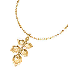 Buy Dower & Hall White Topaz Wild Rose Leaf Pendant Necklace Online at johnlewis.com