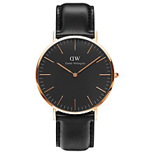 Buy Daniel Wellington Unisex Sheffield Leather Strap Watch Online at johnlewis.com