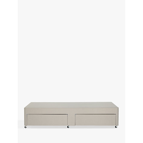 Buy john lewis non sprung two drawer divan storage bed for Low single divan bed