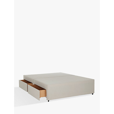 Buy john lewis non sprung four drawer divan storage bed for Cheap 4 drawer divan beds
