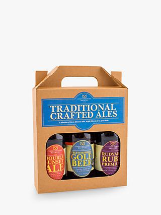 Staffordshire Brewery Traditional Crafted Ales, Box of 3, 1.5L
