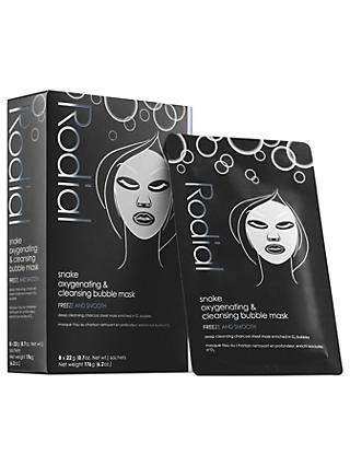 Rodial Snake Oxygenating & Cleansing Bubble Masks, 8 x 22g
