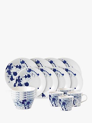 Royal Doulton Pacific Porcelain Dinnerware Set, Splash, 16 Pieces