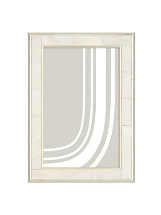 John Lewis & Partners Mother Of Pearl Photo Frame, Silver