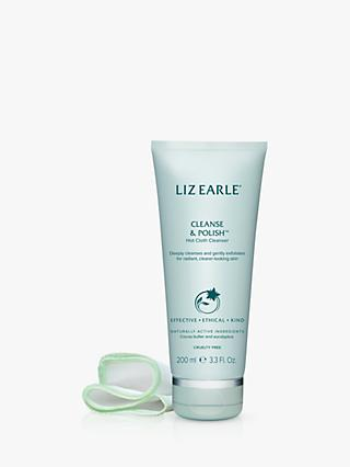 Liz Earle Cleanse & Polish™ Hot Cloth Cleanser, 200ml with 2 Cotton Cloths