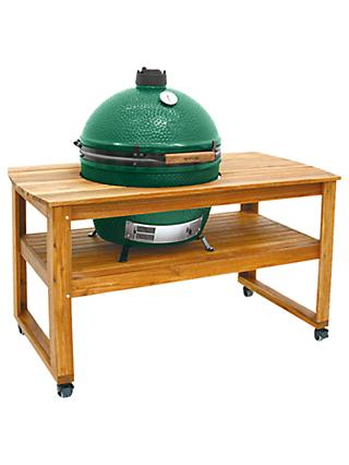 Big Green Egg Extra Large BBQ and Wood Table Bundle