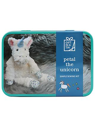 Apples to Pears Gift in a Tin Petal the Unicorn Simple Sewing Kit