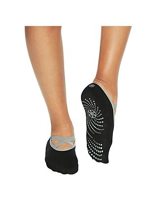 Gaiam Grippy Yoga Barre Socks, Black