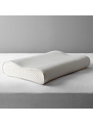 John Lewis & Partners Specialist Synthetic 2-Way Memory Foam Standard Support Pillow, Medium/Firm