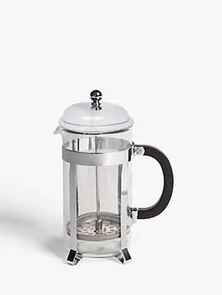 John Lewis & Partners Classic 8 Cup French Press Cafetiere, 1L, Stainless Steel