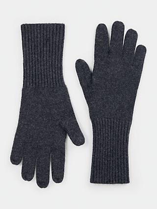 hush Cashmere Gloves, Charcoal