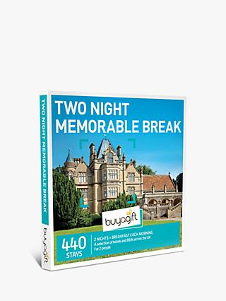 Smartbox Two Night Memorable Break Gift Experience