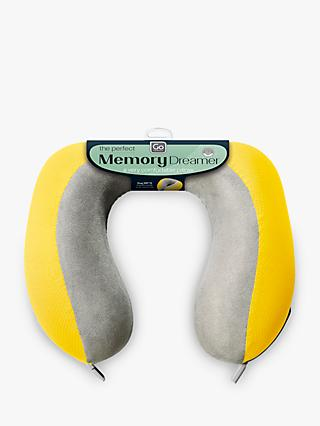 Go Travel 2 Memory Dreamer Pillow, Yellow
