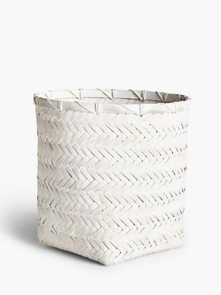 John Lewis & Partners Bamboo and Rattan Waste Paper Bin
