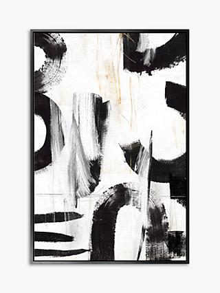 Concept III - Abstract Framed Canvas Print, 124.5 x 84.5cm, Black/White