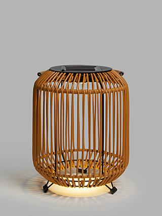 John Lewis & Partners Rattan Solar Powered Garden Lantern, Small