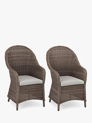John Lewis & Partners Rye Garden Dining Armchairs, Set of 2, Natural