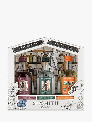 Sipsmith Distillery Gift Set, 3x 5cl