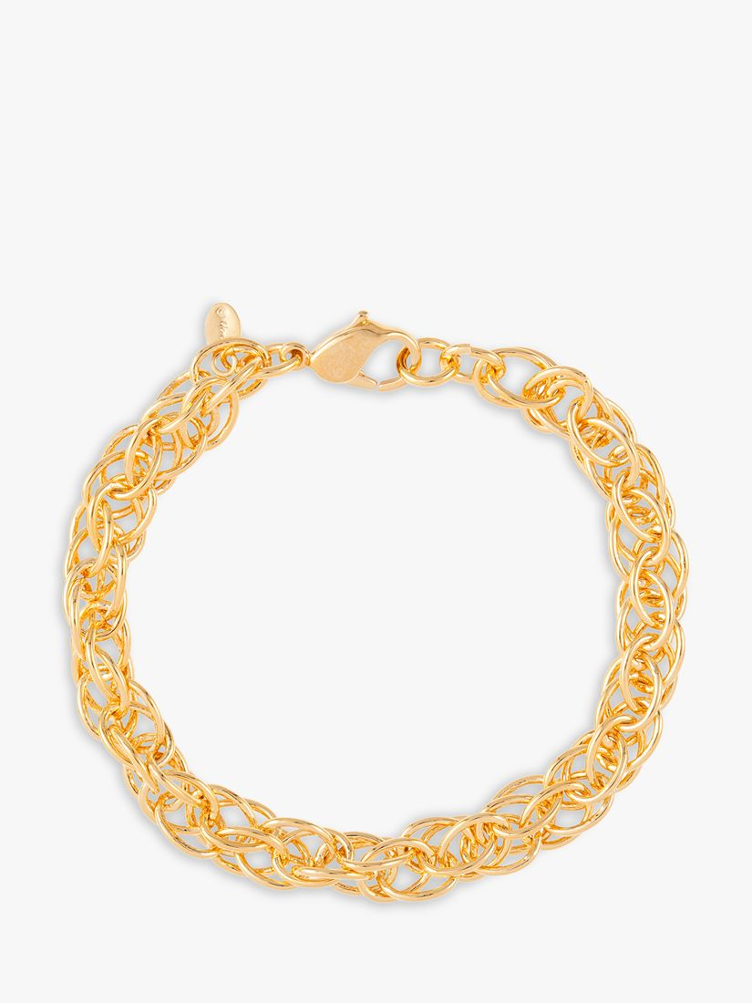 Susan Caplan Vintage Monet Gold Plated Multi Link Chain Bracelet