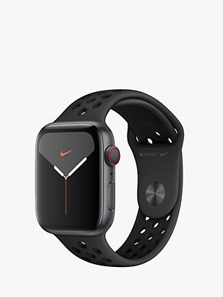 Apple Watch Nike Series 5 GPS + Cellular, 44mm Space Grey Aluminium Case with Anthracite/Black Nike Sport Band - S/M & M/L