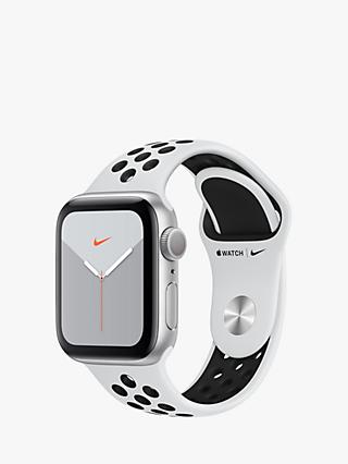 Apple Watch Nike Series 5 GPS, 40mm Silver Aluminium Case with Pure Platinum / Black Nike Sport Band