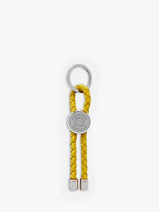 Mulberry Heavy Grain Leather Braided Loop Keyring