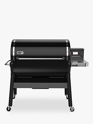 Weber SmokeFire GBS Wood Fired Pellet BBQ, Black, 90cm